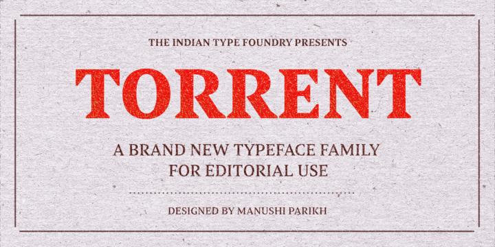 Torrent | Webfont & Desktop font | MyFonts