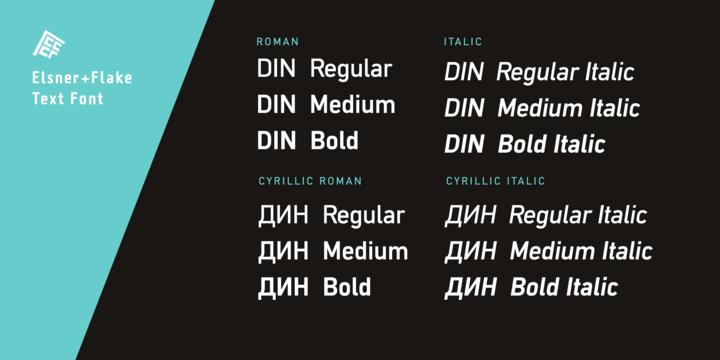 DIN Mittel EF | Webfont & Desktop font | MyFonts