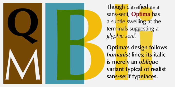 Optima font