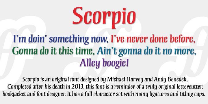 Scorpio | Desktop font | MyFonts
