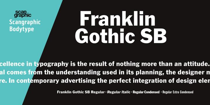 Franklin Gothic SB | Webfont & Desktop font | MyFonts