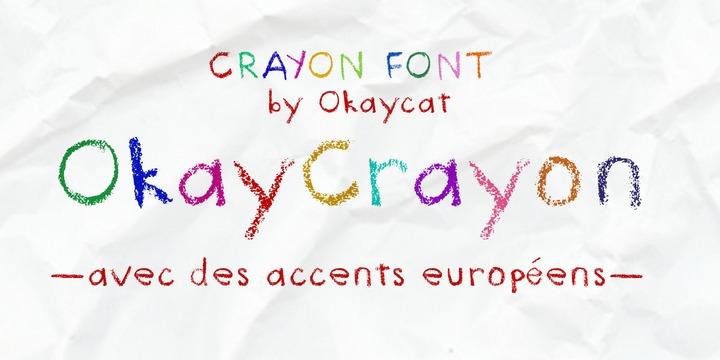 Okay Crayon Webfont Desktop Font Myfonts