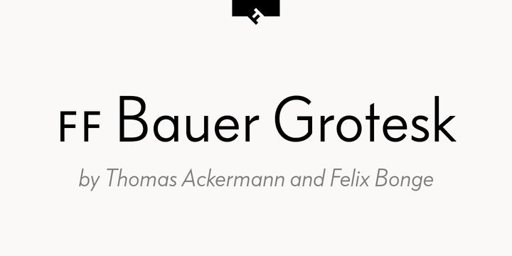 FF Bauer Grotesk | Webfont & Desktop font | MyFonts