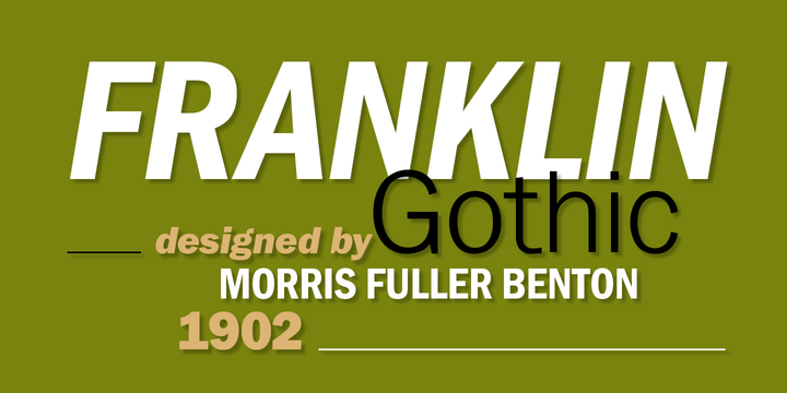 Franklin Gothic Condensed Franklin Gothic™ Webfont