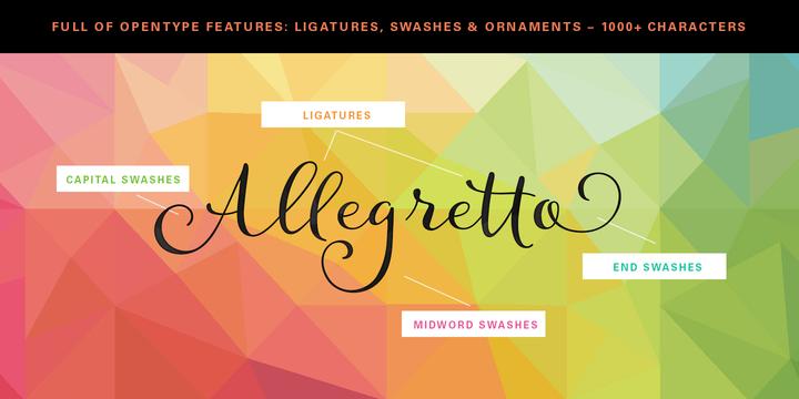 Allegretto Script Font Download