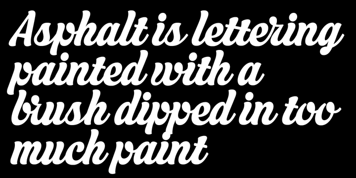 Asphalt   Webfont & Desktop font   MyFonts