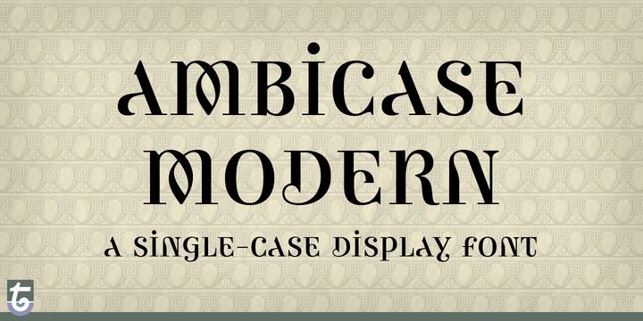 Ambicase Modern - Desktop font « MyFonts