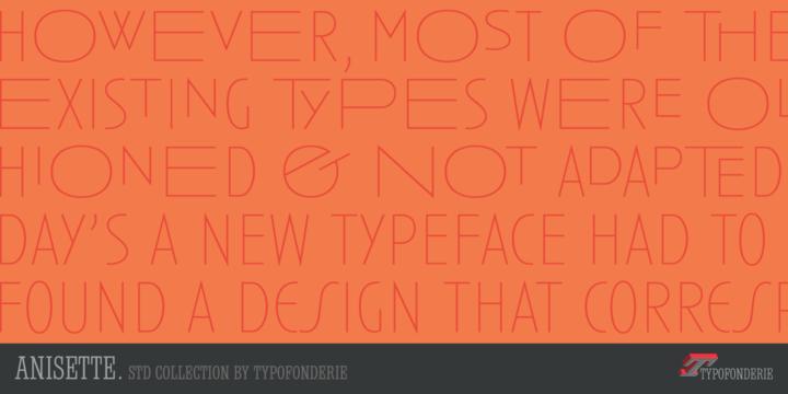 anisette std font