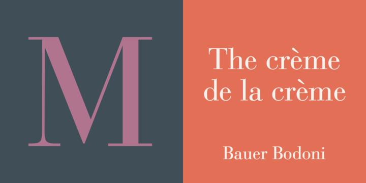 Bauer Bodoni CE Bold - Bold