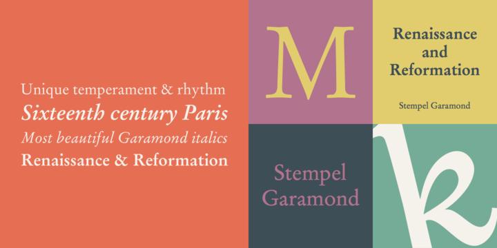 Stempel Garamond | Webfont & Desktop font | MyFonts