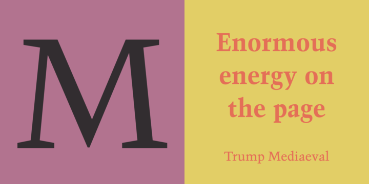 Trump Mediaeval | Webfont & Desktop font | MyFonts