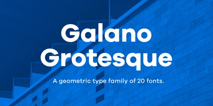 Download Galano Grotesque Font by Rene Bieder – FintFont