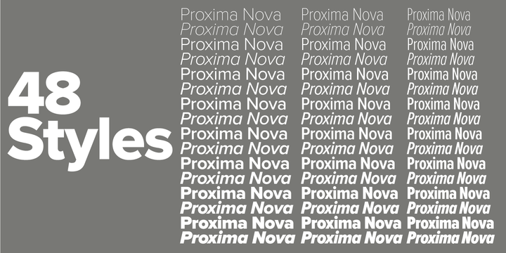 Proxima Nova Webfont Desktop Font Myfonts
