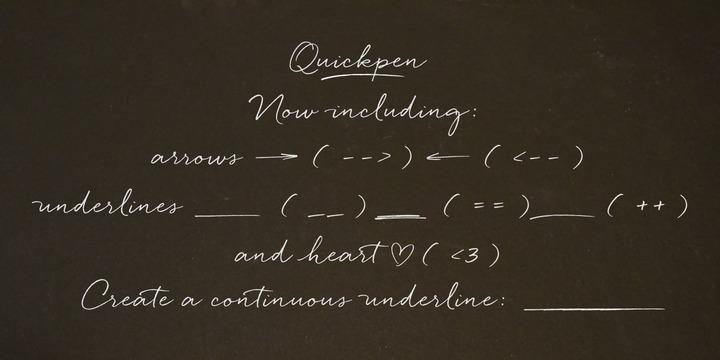 Quickpen   Webfont & Desktop font   MyFonts
