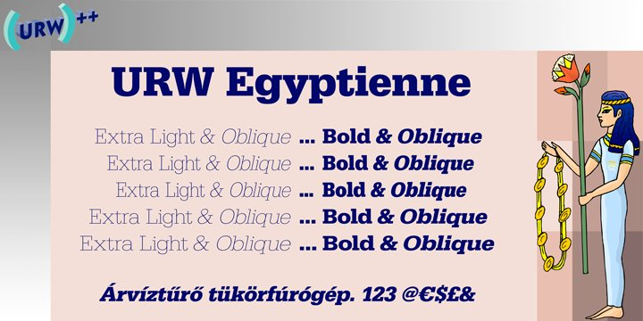 URW Egyptienne ve URW Typewriter Fontlar�n� Ar�yorum
