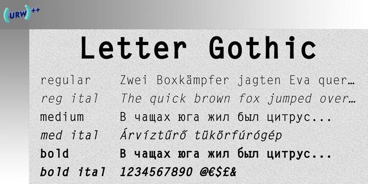 Letter Gothic | Webfont & Desktop font | MyFonts