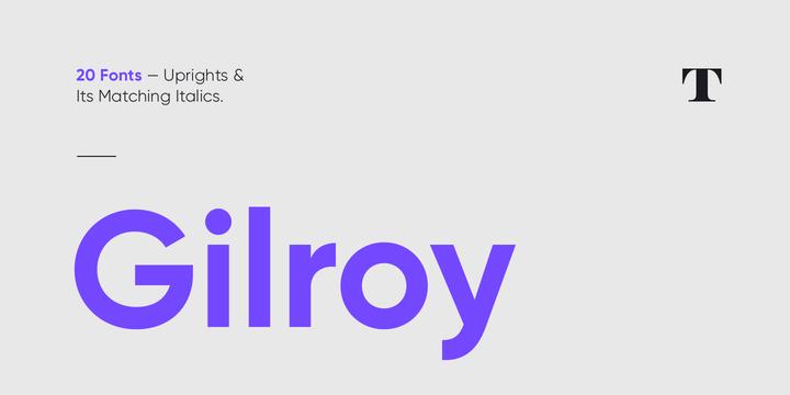 Gilroy Font Poster 1