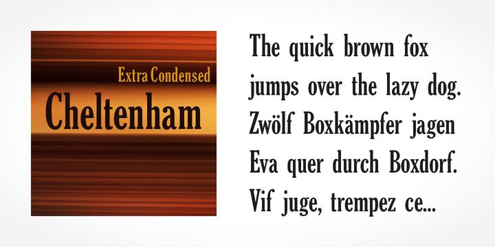 Cheltenham ExtraCondensed Pro Bold