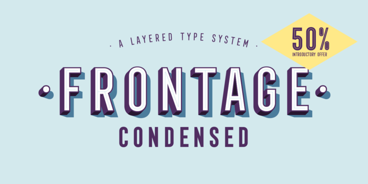 Frontage Condensed Font Family - Befontscom
