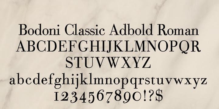 Bodoni Classic Ad   Webfont & Desktop font   MyFonts