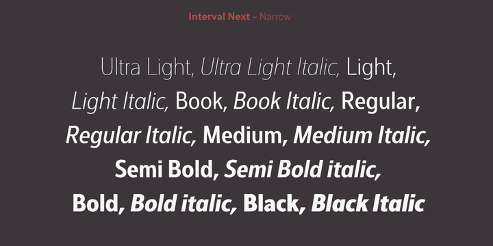 Interval Next | Webfont & Desktop font | MyFonts