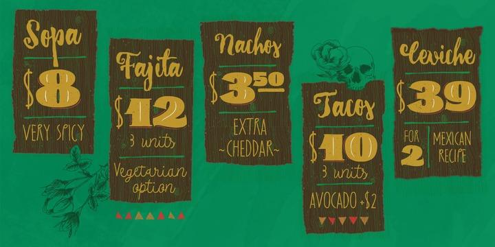 Hot Fonts: Download La Taqueria Font