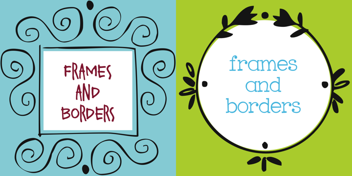 Frames And Borders™ - Webfont & Desktop font « MyFonts