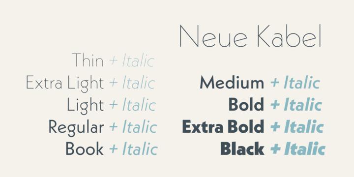 Neue Kabel | Webfont & Desktop font | MyFonts