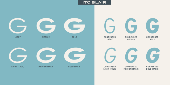 ITC Blair™ Complete Family Pack Fonts com