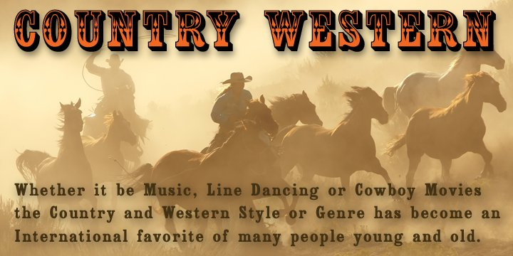 Country Western™ - Webfont & Desktop font « MyFonts