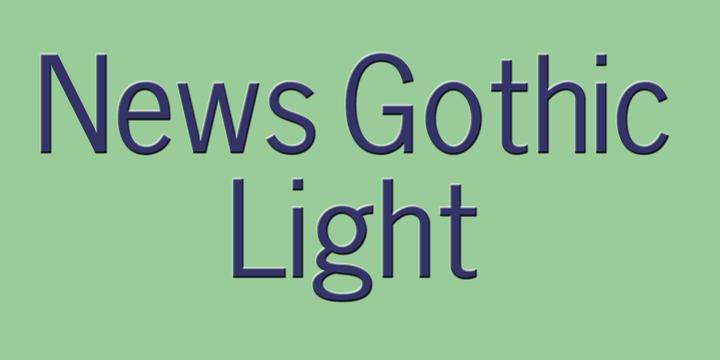 News Gothic Light   Webfont & Desktop font   MyFonts