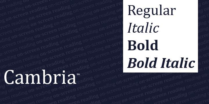 Cambria | Webfont & Desktop font | MyFonts