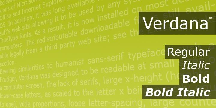 Verdana+font+family