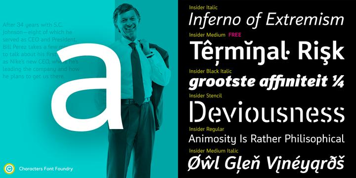Insider Webfont Desktop Font Myfonts