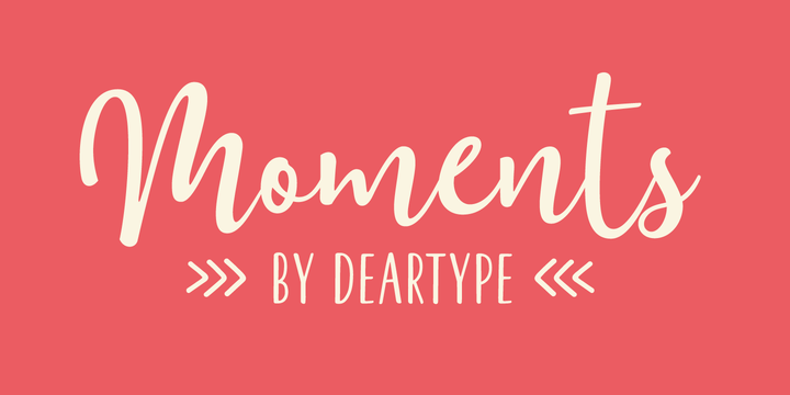 Moments Font Poster 1