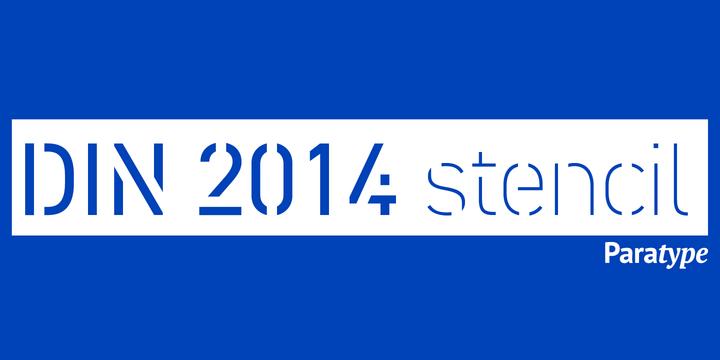 DIN 2014 Stencil | Webfont & Desktop font | MyFonts