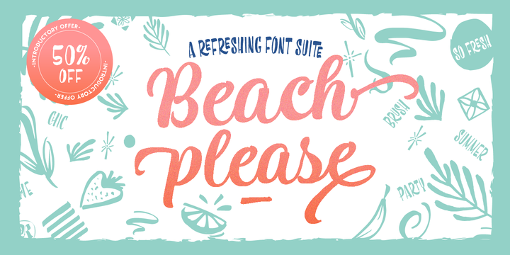Beach Please Font Collection