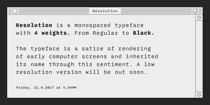 Resolution Webfont Desktop Font Myfonts