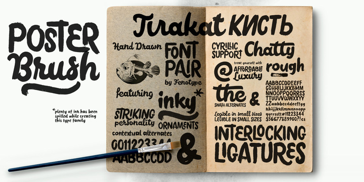 About This Font Family Poster Brush Is A Hand Drawn