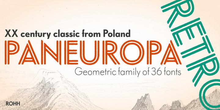 Paneuropa Retro   Webfont & Desktop font   MyFonts