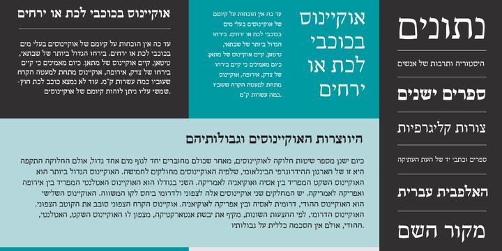 Escritura Hebrew | Webfont & Desktop font | MyFonts