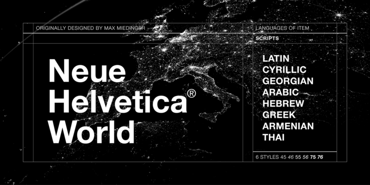 Neue Helvetica World | Webfont & Desktop font | MyFonts