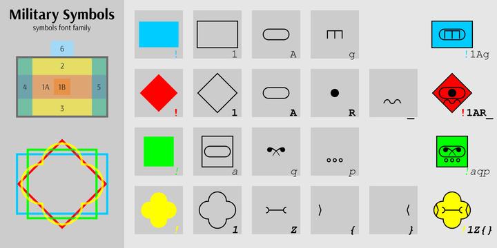 Military Symbols Webfont Desktop Font Myfonts