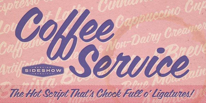 Coffee Service Font Webfont Desktop Myfonts