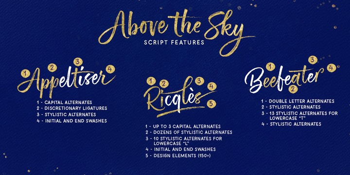 above the sky font free download