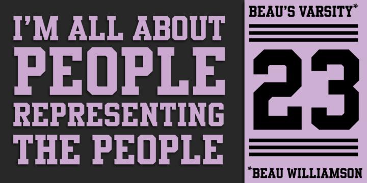 Beau's Varsity | Webfont & Desktop font | MyFonts