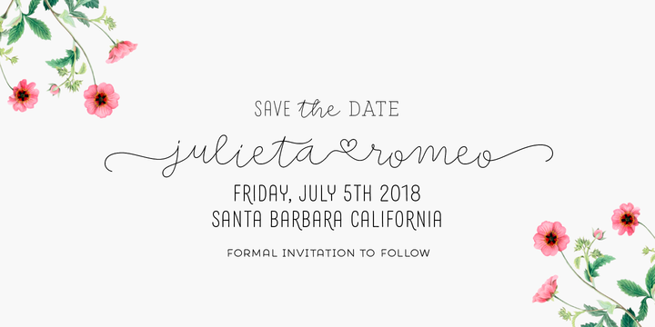Save The Date Font Poster 2