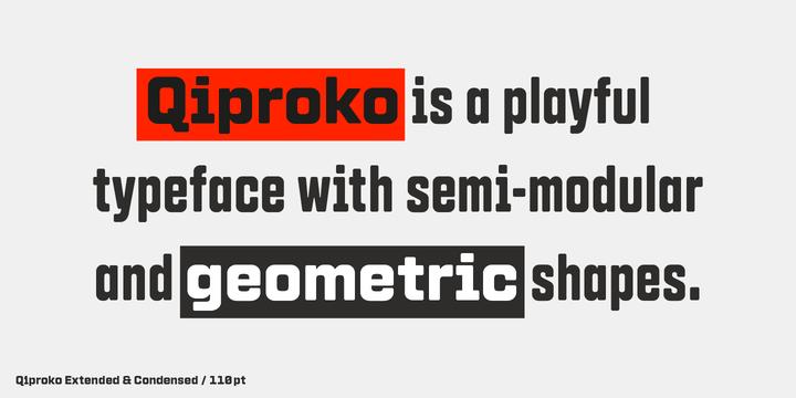 Download Qiproko Fonts by Nootype