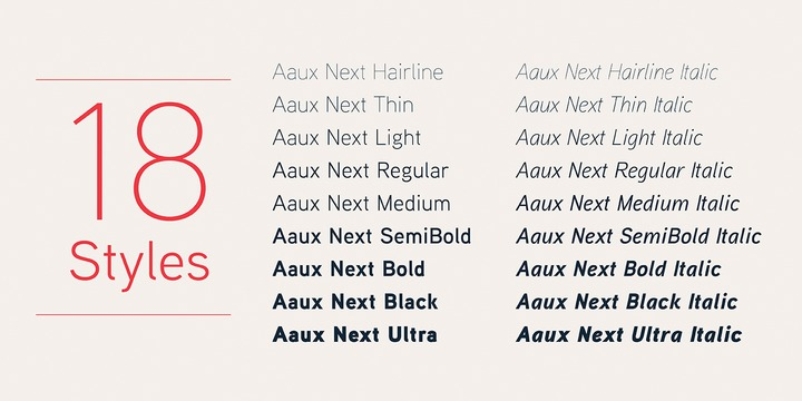 aaux font family