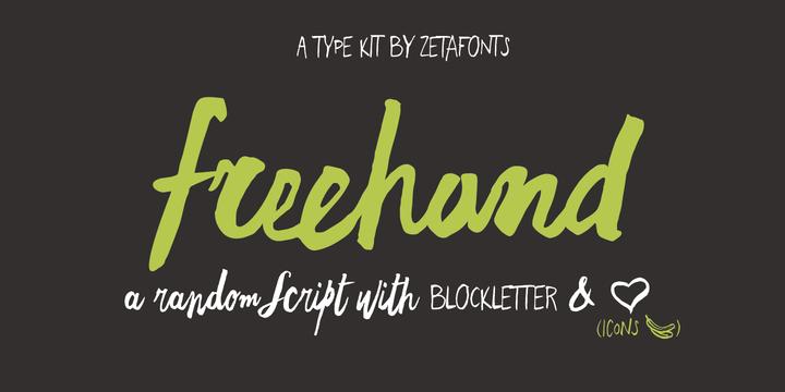 Freehand Brush   Webfont & Desktop font   MyFonts